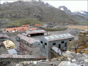 A view of the Santander mine site, which operated from 1958 to 1992. Photo by Vivian Danielson