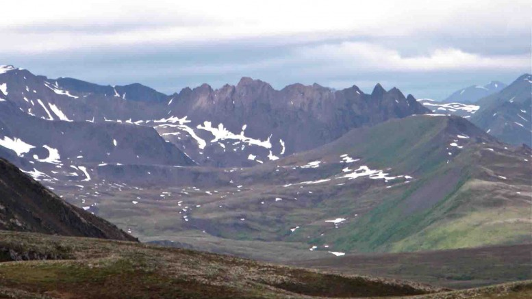 Looking west at Brixton Metals' Kahilt project in Alaska. Photo by Brixton Metals