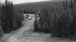 At Richfield Ventures' Blackwater gold project 100 km south of Vanderhoof in central B.C. Photo by The Northern Miner