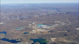An aerial view of Minera Andes and Hochschild Mining's San Jose silver-gold mine in Santa Cruz province, Argentina. Photo by Minera Andes