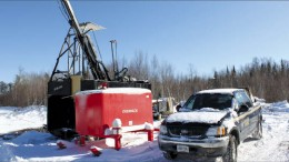 A drill rig at Prodigy Gold's Magino gold project in northern Ontario. Photo by Prodigy Gold
