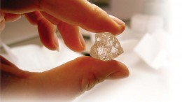 A rough diamond from Diamcor Mining's former So Ver operation, in South Africa. Credit: Diamcor Mining.