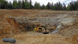 Workers building the portal at Trevali Mining's Halfmile Mine project in northern New Brunswick. Photo by Trevali Mining