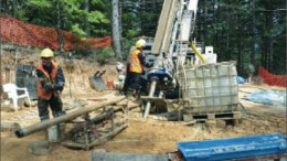 Drillers at Alamos Gold's Camyurt gold project in northwestern Turkey. Photo by Alamos Gold