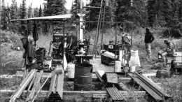 Drillers at the Ashram zone at Commerce Resources' Eldor REE project in northernmost Quebec. Photo by Commerce Resources