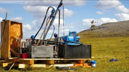 Drillers at Cedar Mountain Exploration's Kelly Creek gold project in western Alaska. Photo by Cedar Mountain Exploration