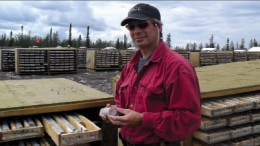 Hathor Exploration president and CEO Mike Gunning at the Roughrider uranium project in Saskatchewan's Athabasca Basin. Photo by Trish Saywell