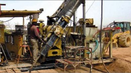 Drillers at Orezone Resources' Bombore gold project in Burkina Faso. Photo by Orezone Resources
