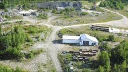 An aerial view of Prodigy Gold's Magino gold project near Wawa, Ontario. Photo by Prodigy Gold
