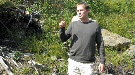 Probe Mines CEO David Palmer at the Borden Lake gold project in Chapleau, Ontario. Photo by Trish Saywell