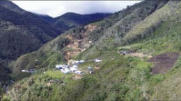 The exploration camp and copper deposit at Candente Copper's Canariaco Norte project in northern Peru. Photo by Candente Copper