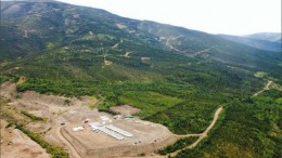 An aerial view of Victoria Gold's Eagle gold deposit in the Yukon's Tintina gold belt. Photo by Ian Bickis