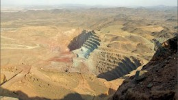 An elevated view of pits at La Mancha Resources' Hassai gold mine in Sudan. Photo by La Mancha Resources