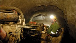 A miner working underground at European Goldfields' Olympias polymetallic project in Greece. Photo by European Goldfields