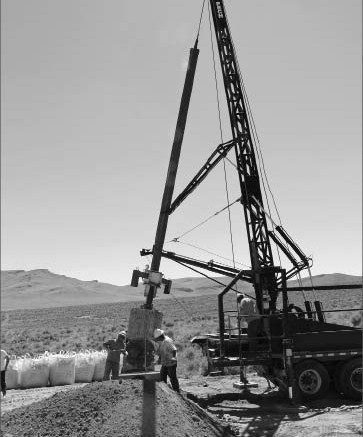 Drillers at work at Western Lithium's Kings Valley lithium project in Humboldt County, Nevada. Photo by Western Lithium