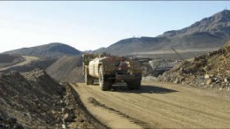 Machinery at Molycorp's Mountain Pass REE mine in California. Photo by Trish Saywell