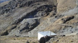 The outcropping Angela vein at Hochschild Mining's and International Minerals' Inmaculada gold-silver project in Southern Peru. Photo by International Minerals