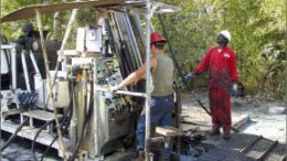 Drillers work at Rockgate Capital's Falea uranium-silver project in southwest Mali, 20 km north of the Guinean border. Photo by Rockgate Capital