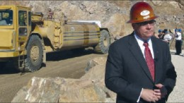 Molycorp CEO Mark Smith at the Mountain Pass rare earth elements project in California. Photo by Trish Saywell