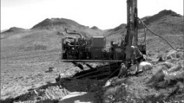 A drill rig at Corvus Gold's North Bullfrog gold-silver project in Nevada. Photo by Corvus Gold