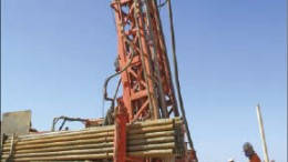 Drillers at La Mancha Resources' Hassai project in Northern Sudan. Photo by La Mancha Resources