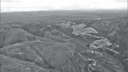 An aerial view of Golden Predator's flagship Brewery Creek gold project in the Yukon. Photo by Ian Bickis