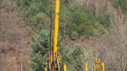 A drill rig at Woulfe Mining's Sangdong tungsten-molybdenum project in South Korea. Photo by Woulfe Mining
