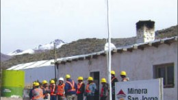 Personnel at Coro Mining's San Jorge copper-gold project in Argentina. Photo by Coro Mining