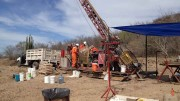 A drill team in action at Westridge Resources' Charay gold-silver project in Sinaloa, Mexico. Photo by Michael McCrae