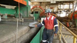 Monitoring the flotation process at Silvermex Resources' La Guitarra silver mine, 130 km southwest of Mexico City. Photo by Silvermex Resources