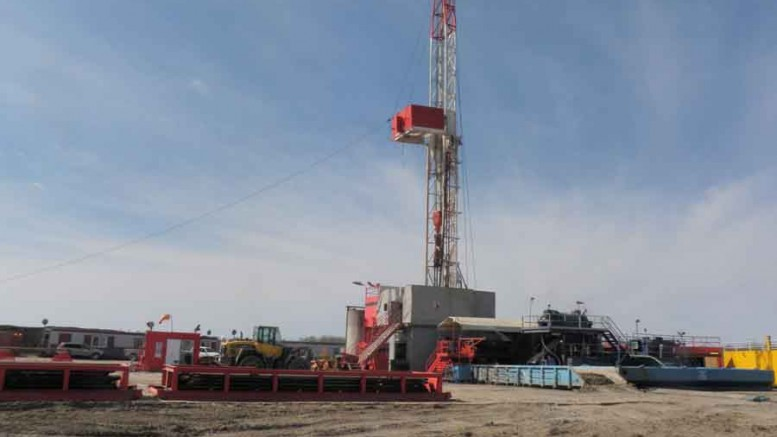A drill rig at Karnalyte Resources' flagship potash project near Wynyard, Saskatchewan. Photo by Karnalyte Resources