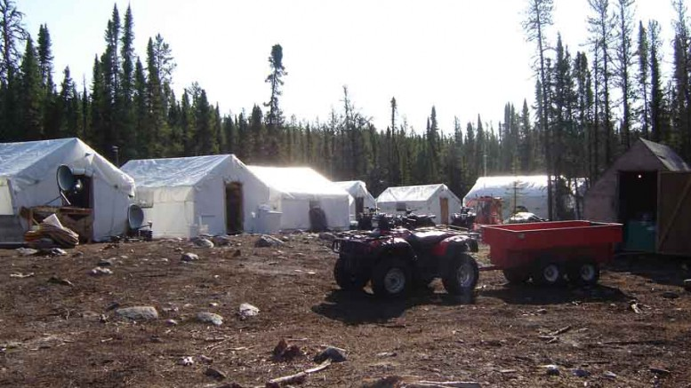 The camp at Pitchstone Resources' Gumboot uranium project in northern Saskatchewan's Athabasca basin. Photo by Pitchstone Resources