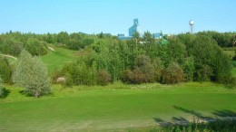 The headframe at Alexis Minerals' Snow Lake gold mine project in west-central Manitoba. Photo by Alexis Minerals