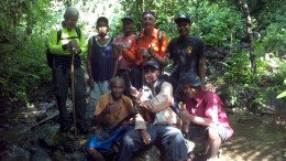 The exploration crew at WCB Resources' Misima Island copper-gold project in Papua New Guinea. Photo by WCB Resources