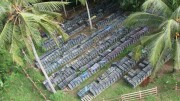 An aerial view of core racks at Intrepid Mines' Tujuh Bukit copper-gold project in Java, Indonesia. Photo by Intrepid Mines