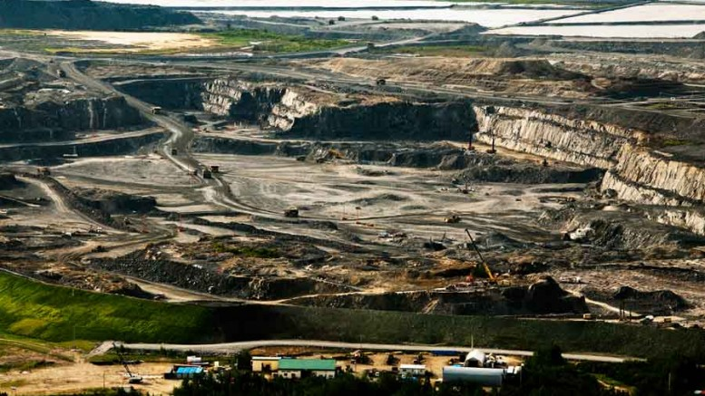 Mining operations at Osisko Mining's Canadian Malartic gold mine in Malartic, Quebec.Photo by Daniel Rompr