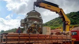Mill components arriving at Colossus Minerals' Serra Pelada gold project in Brazil's Para state. Photo by Colossus Minerals