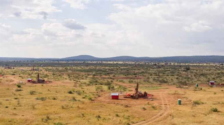 A drill rig at Ivanplats' Platreef platinum group elements project in South Africa's Bushveld igneous complex. By Ivanplats.