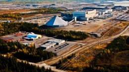 An aerial view of the facilities at Osisko Mining's Canadian Malartic gold mine in Quebec. By Daniel Rompr.