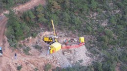 A drill rig at the Kucukdag target at Pilot Gold's TV Tower gold project in Turkey. Source: Pilot Gold