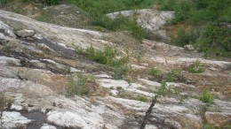 An outcrop at Temex Resources' Juby gold project in northern Ontario. Sources: Temex Resources