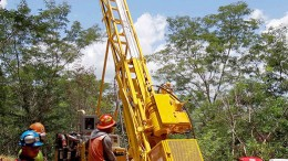 Drilling at Unigold's Candelones Extension, part of its Neita concession. Source: Unigold