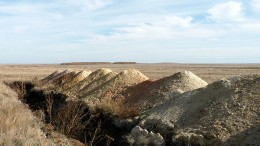 A trench at the Atygai prospect on Slater Mining's West Khazret gold project in Kazakhstan. Source: Slater Mining