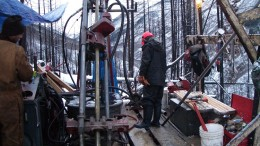 Drillers at Brixton Metals' Thorn gold project in British Columbia. Source: Brixton Metals