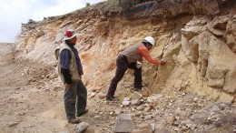 Geologists at the Malku Khota concession in Bolivia. Source: South American Silver Corp.