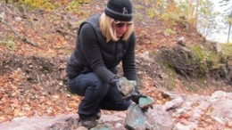 Superior Copper CEO Judy Baker at the Batchawana copper project in northern Ontario. Photo by Salma Tarikh