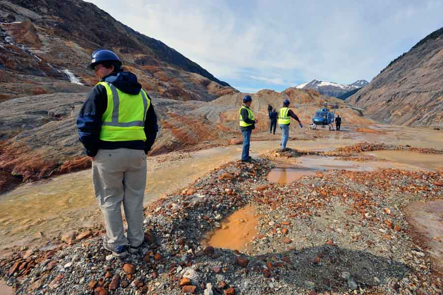 Visitors at Seabridge Gold's KSM gold-copper project, 70 km north of Stewart, British Columbia. Source: Seabridge Gold
