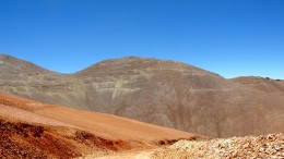 The Cerro Maricunga oxide gold deposit (Lynx on the left, Phoenix in the centre, and the Crux to the far right). Source: Atacama Pacific Gold