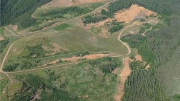 An aerial view of Golden Predator's Brewery Creek gold project, 55 km east of Dawson in the Yukon. Photo by Matthew Keevil.