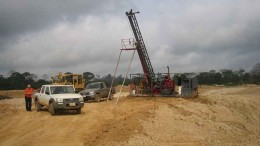 Drilling at Asante Gold's Fahiakoba gold project in central Ghana. Source: Asante Gold